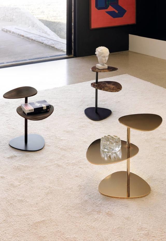 coffee table Yori (design Setsu&Shinobu Ito) di Désirée oro lucido