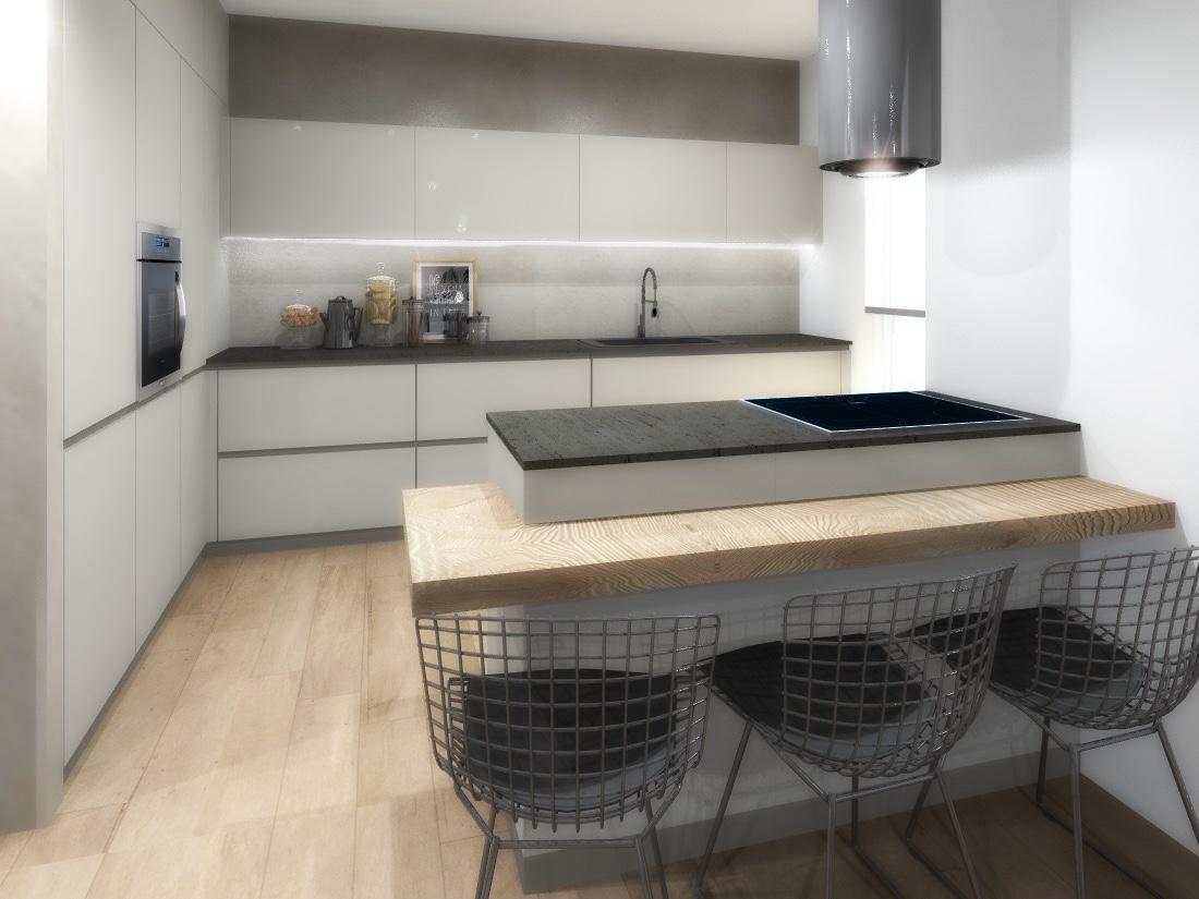 Cucina aperta bagno in camera e lavatrice nascosta progetto 3d cose di casa - Progetto bagno 3d gratis ...