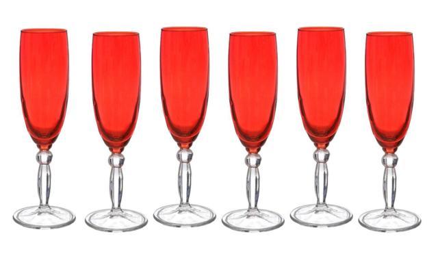 bicchieri a calice rossi Kasanova Pasabahce