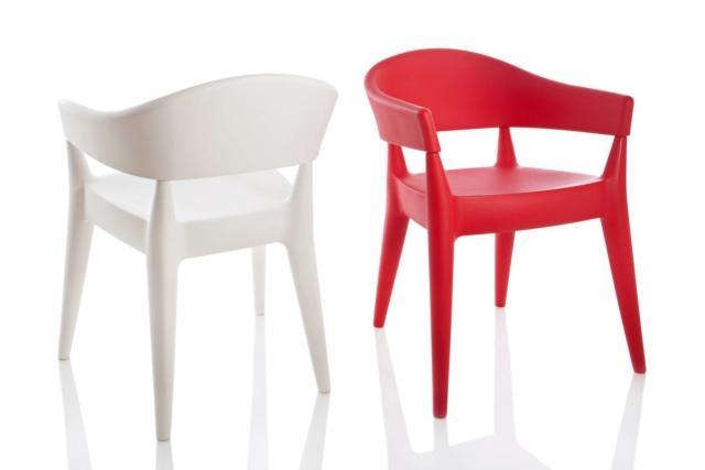 design sedia rossa e sedia bianca alma design Jo
