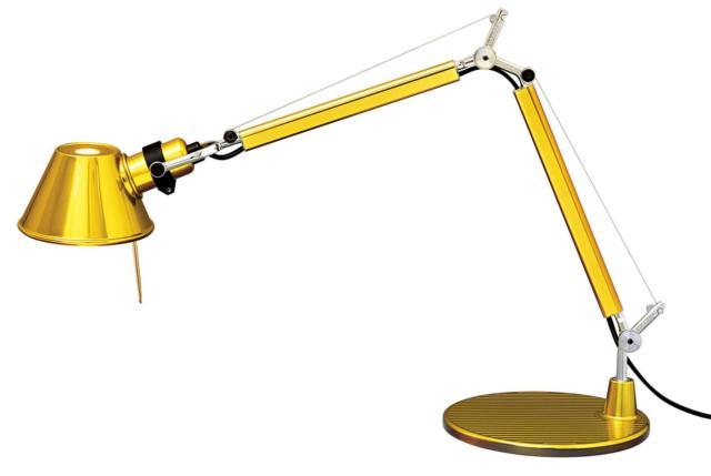lampada da tavolo design oro artemide_Tolomeo