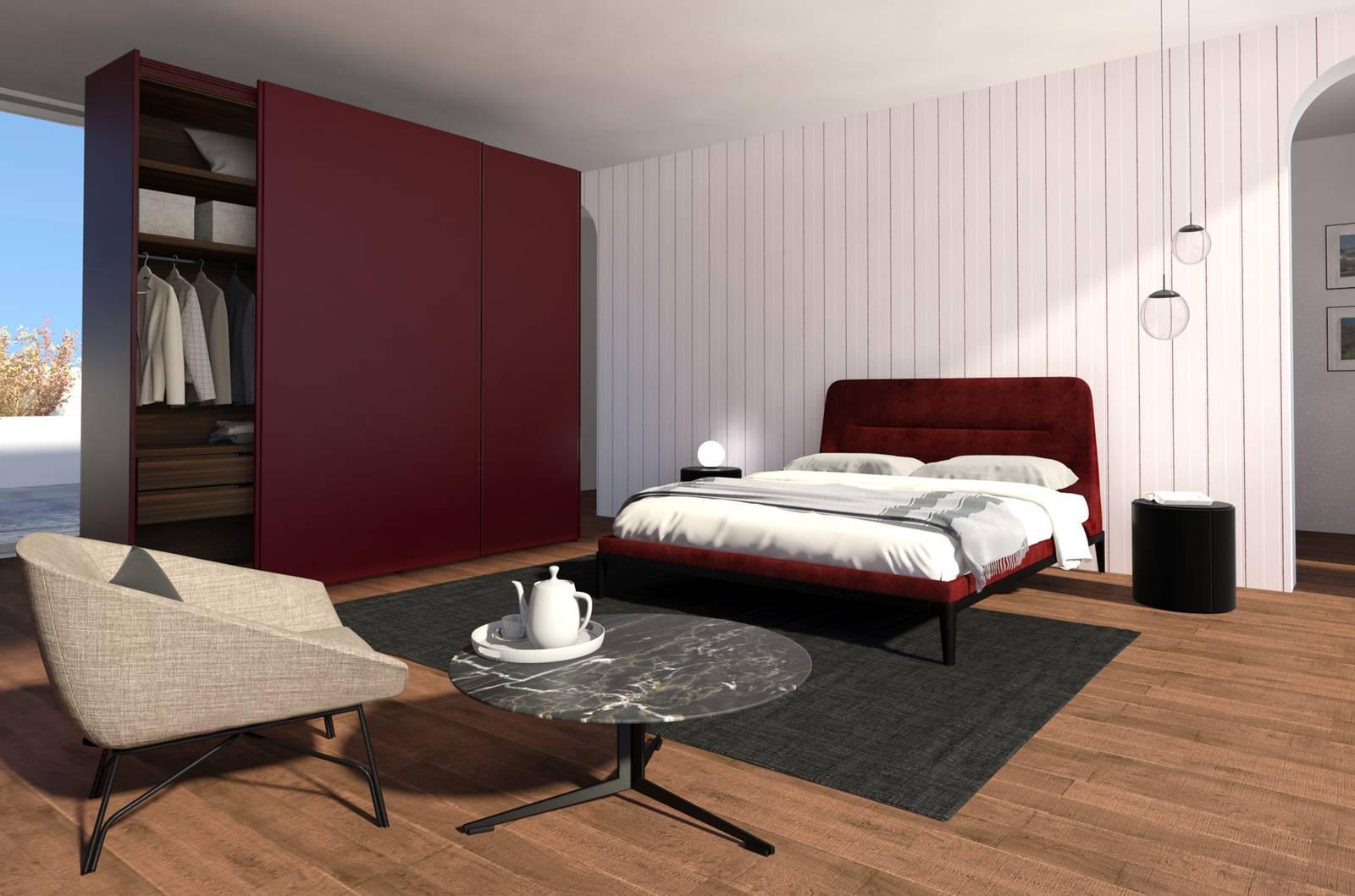 Dividere il soggiorno e la camera con mobili a tutta - Camera soggiorno ...