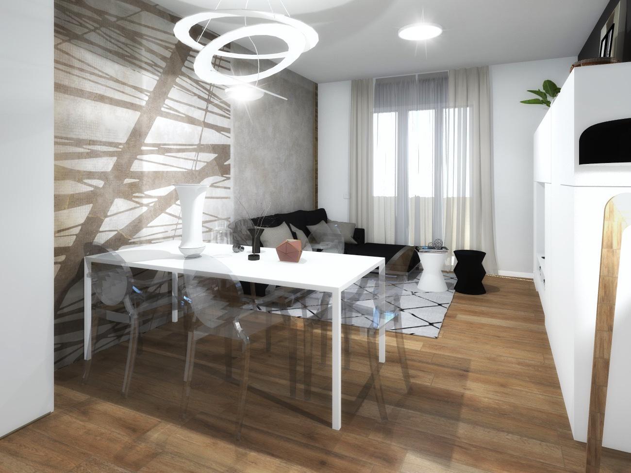 Posizione Divano E Tv come arredare la parete dietro tavolo e divano, definendo le
