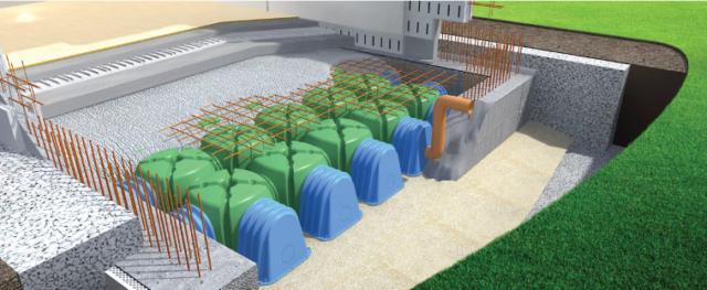 casseri vespaio aerato con sistema Cupolex di Poneterolo Engineering contro l'umidità
