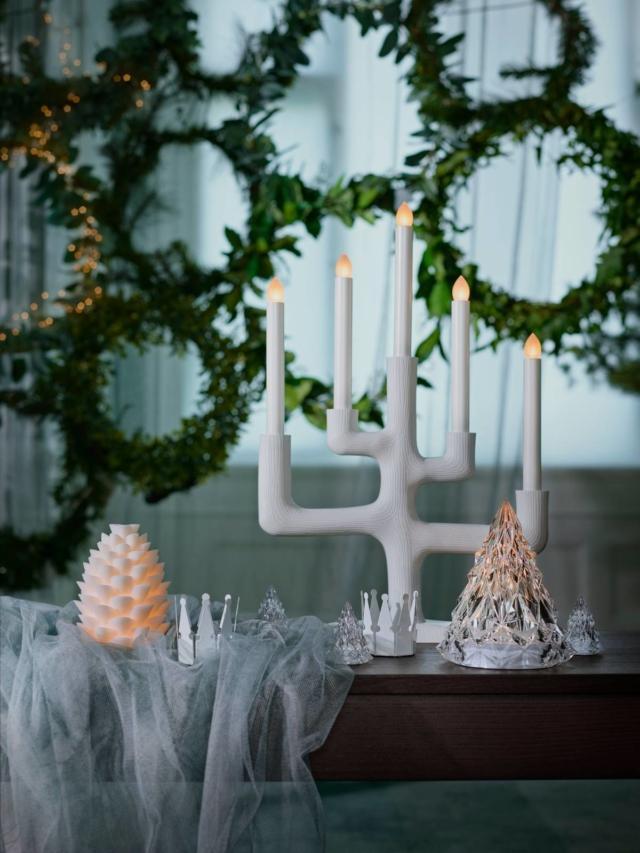 candelabro bianco Stråla (design Eléa Nouraud) di Ikea