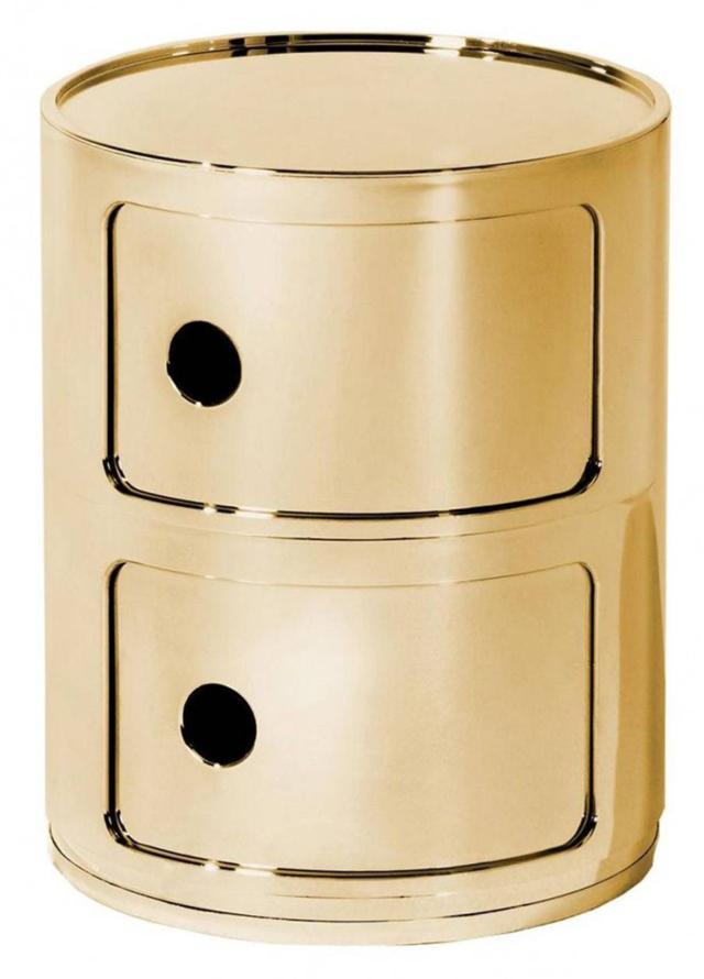 contenitore design kartell Componibili oro