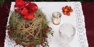 La sfera di Natale fai da te, non solo per la tavola