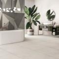 pavimento casa con rivestimenti sottili Plain Mist Soft 75x75 Fragment 75x150