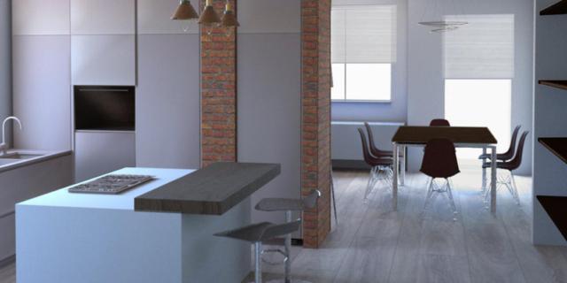 Un bagno in più e un soggiorno più funzionale nella casa con tre camere