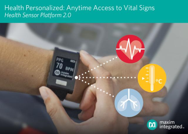 Maxim Wearable Health Sensor Platform 2.0 novità CES 2019