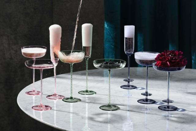bicchieri champagne colorati LSA INTERNATIONAL - CHAMPAGNE THEATRE COLLECTION homi 2019