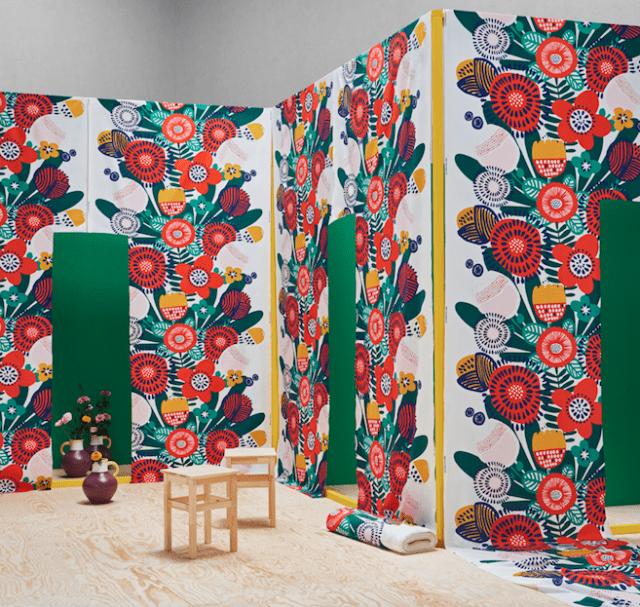 Ikea IRMELIN Tessuto colorato a metraggio