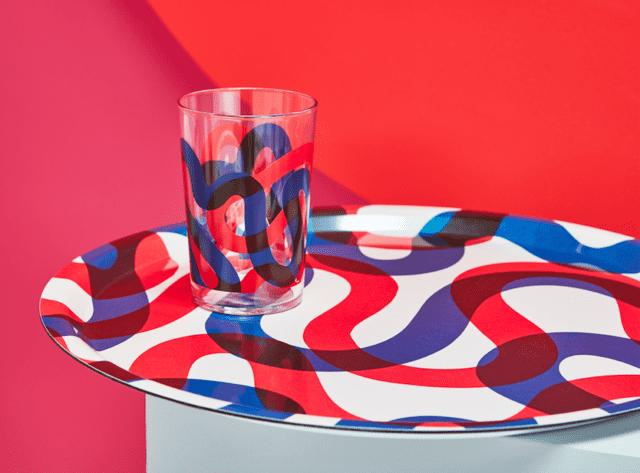 Ikea FRAMKALLA serie vassoio e bicchieri colorati