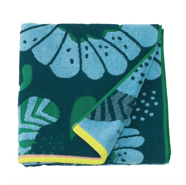 Ikea SANDVILAN asciugamano blu/fantasia