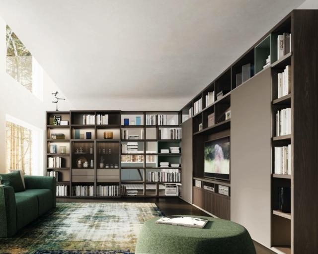 alfdafre COMPOSIZIONE MY SPACE libreria grande