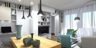 progetto 3D arredare soggiorno difficile poltrone VERDI