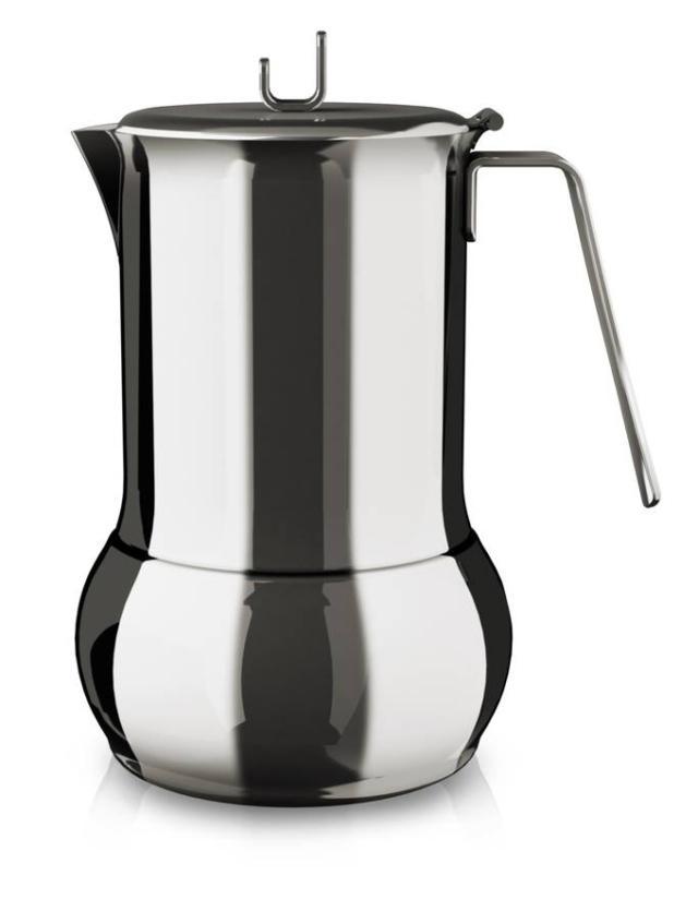 Adatta per l'induzione la moka CaffèTummy di Barazzoni in versione da 4 tazze è fornita con riduttore e ha un'inconfondibile forma bombata. Prepara caffè e tè e ha guarnizione in silicone che garantisce una pulizia facilitata. Prezzo in via di definizione. www.barazzoni.it