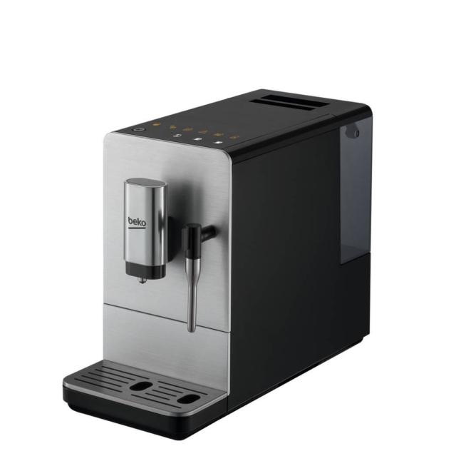 Affinché gli aromi vengano sprigionati uniformemente, nella macchina automatica CEG5301X di Beko il caffè macinato fresco viene umidificato automaticamente dal sistema di preinfusione. Ha pompa da 19 bar, serbatoio capiente 1,1 litri, regolazione della macinatura su 5 livelli, display LED touch, sistema autopulente e spegnimento automatico. Misura L 44 x P 24 x H 38,5 cm. Prezzo 349,99 euro. www.beko.it