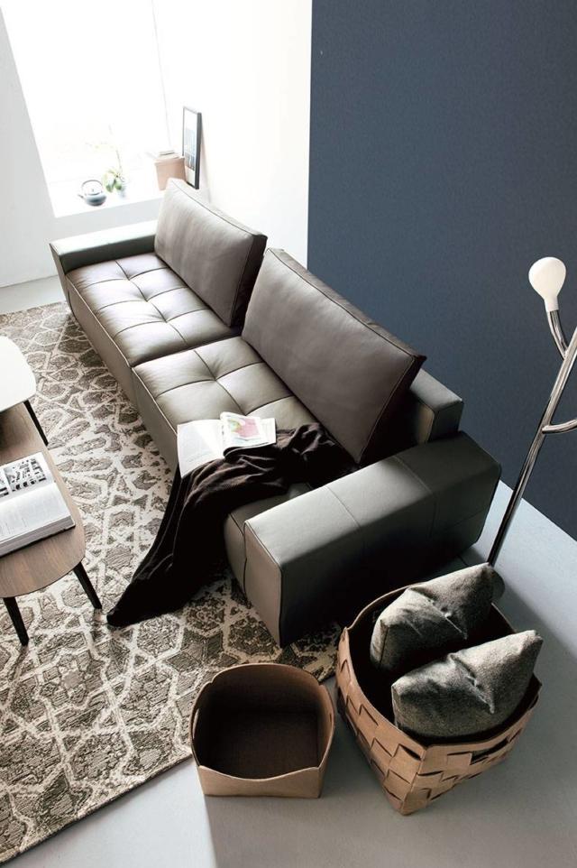calligaris LOUNGE divano in pelle_