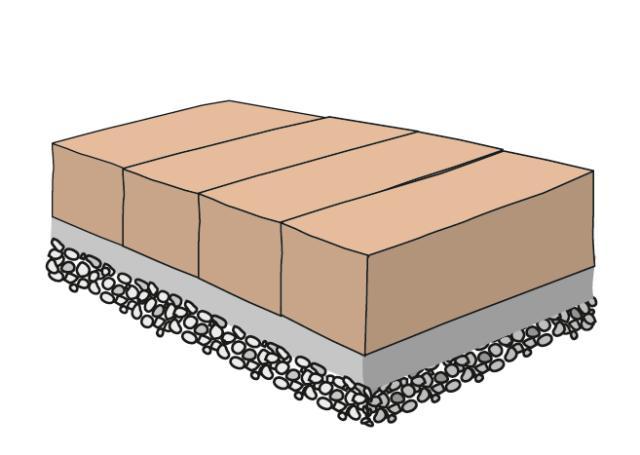 4. Si potrà quindi procedere al riposizionamento degli elementi e al rinterro degli stessi mediante l'utilizzo di cemento a presa rapida; mattoni o tavelle sono poco profondi e molto leggeri, sarebbero decisamente instabili accostati a secco.
