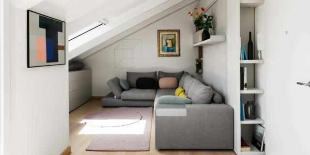 Sottotetto ristrutturato: 53 mq a nuovo nella tipica casa ligure