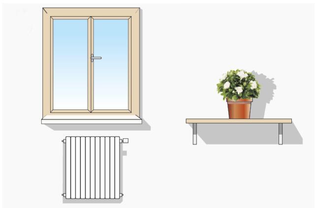 Si mantenga il vaso in luogo luminoso lontano dall'irraggiamento solare, e da fonti dirette di calore.