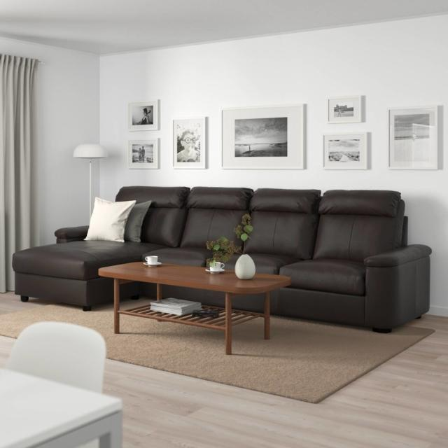 ikea lidhult divano in pelle