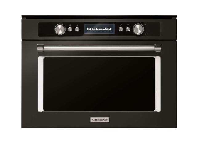 kitchenaid-black line-forno microonde combi