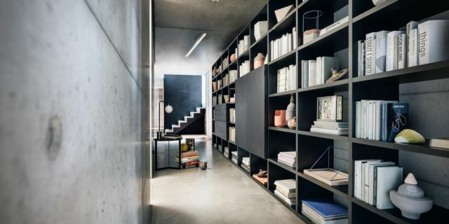 """Grandi librerie per """"vestire"""" la parete o anche per sostituirla"""