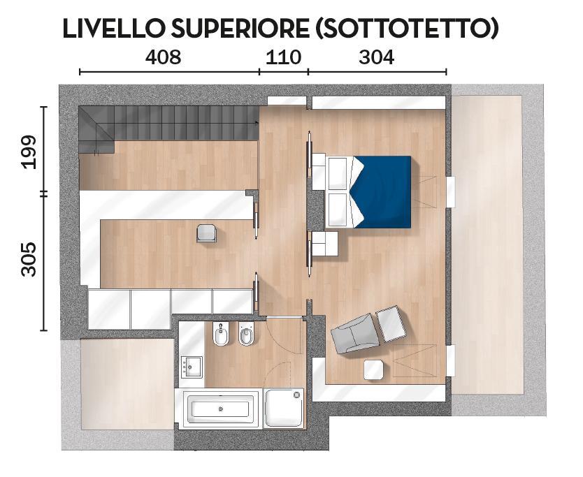 Casa Su Due Livelli In 130 Mq Tutto Il Fascino Del Sottotetto Cose Di Casa