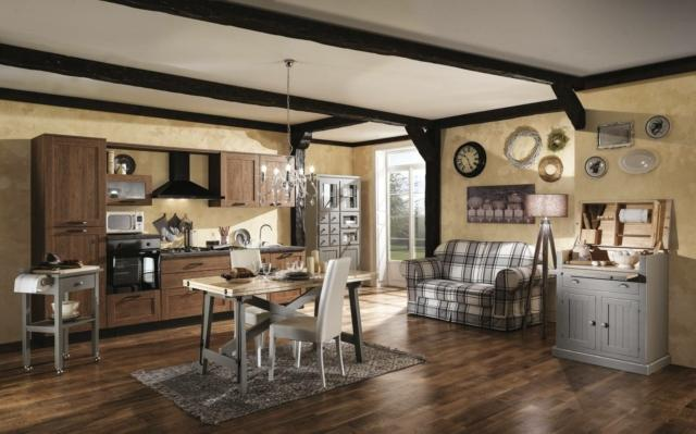 Casa in stile country protagonisti legno e materiali for Mercatone uno madia