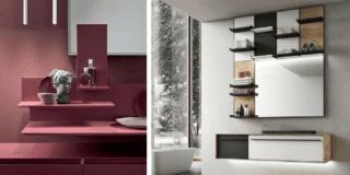 Mobile bagno sospeso: colorato o in essenza?