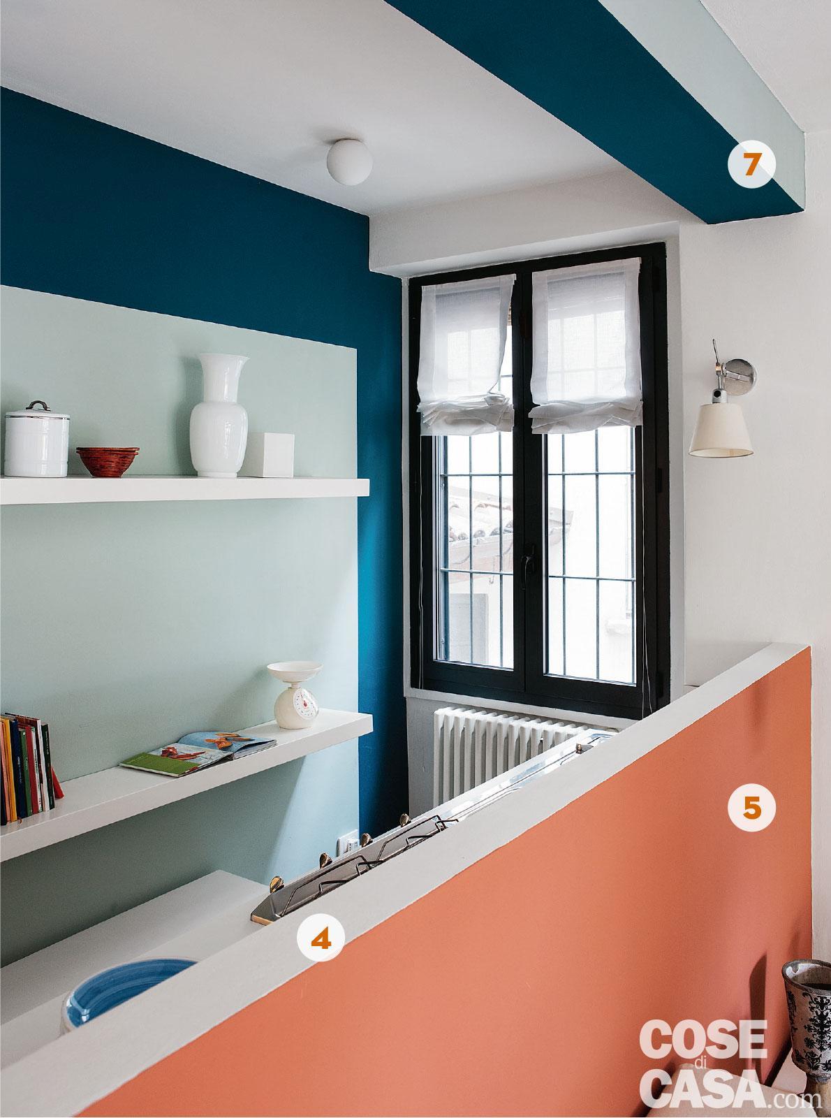 Arredamento Color Petrolio mini loft ristrutturato con mansarda - cose di casa