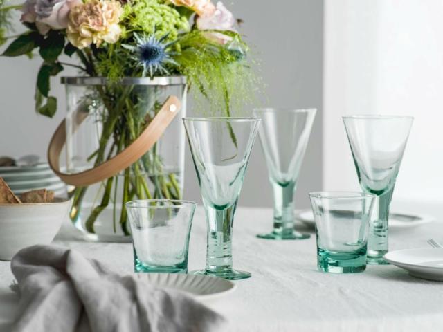 bicchieri trasparenti verde sagaform-homi 2019