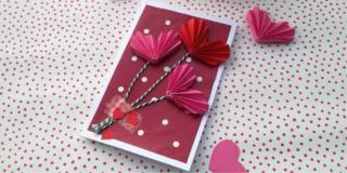 biglietto d'auguri con cuori personalizzato per san valentino