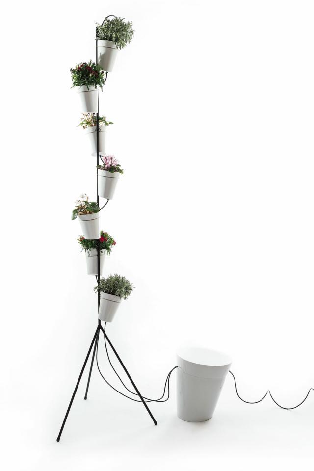 sistema di vasi per coltura idroponica Window Garden Self-Standing di Danese Milano