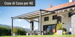 KE presenta XTESA PLAIN, nuova tenda a pergola minimal con tessuto ad avvolgimento