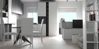 nuovo soggiorno cucina open space - progetto per aggiungere un bagno e una cabina armadio