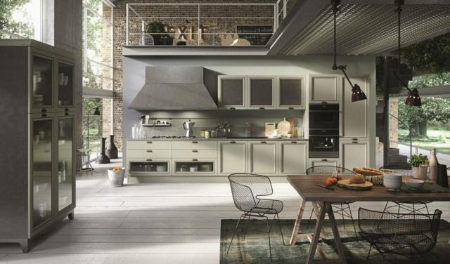 aran cucine_ Magistra_Lacquered green ash cucina stile country