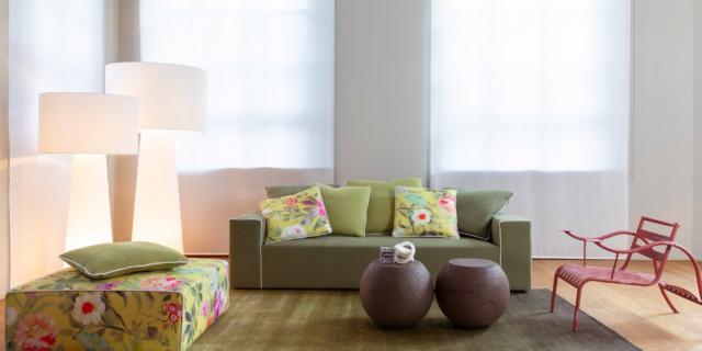 I mobili di design si vestono di tessuti decor