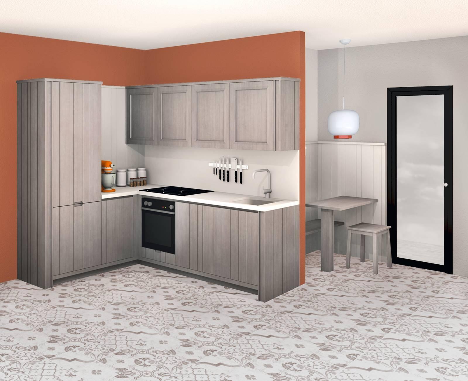 Portaoggetti Da Parete Per Cucina progetti cucina per meno di 10 mq: 4 soluzioni con i