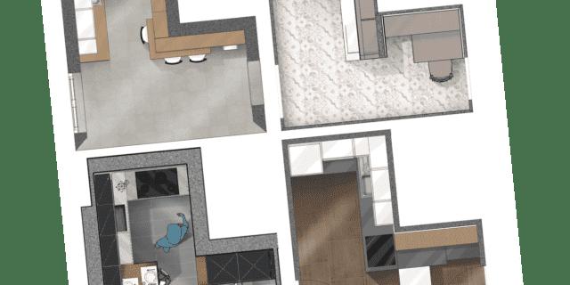 Progetti cucina per meno di 10 mq: 4 soluzioni con i preventivi dettagliati