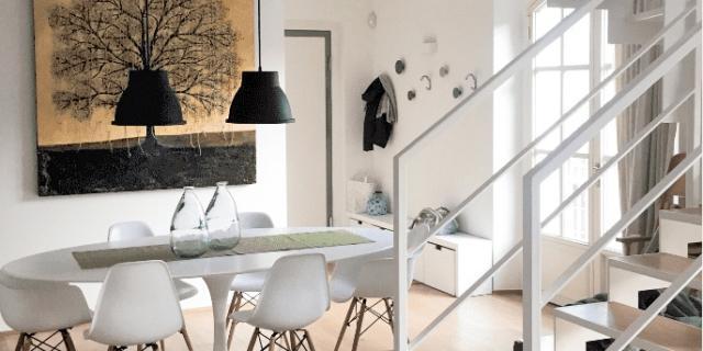 Da edificio industriale a loft, elegante e raffinato