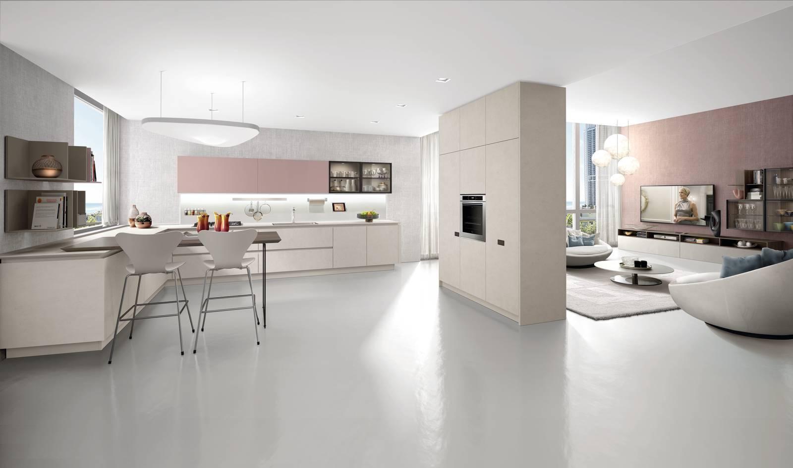 Soggiorno e cucina open space ma quale finitura scegliere for Soggiorno living