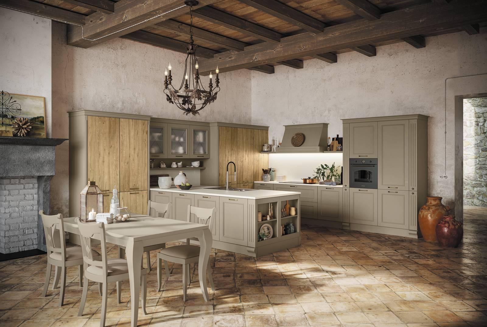 Cucine in stile country: 13 modelli in legno o in laccato ...