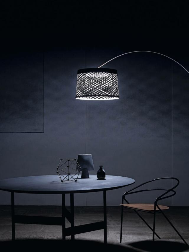 lampada da terra foscarini_Twiggy Grid room set close up