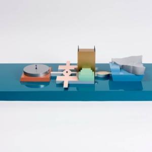 Modellino del Groninger Museum di Groningen (Olnda, progetto di Alessandro e Francesco Mendini), esposizione Atelier Mendini – Le architetture alla Triennale di Milano, 2018.
