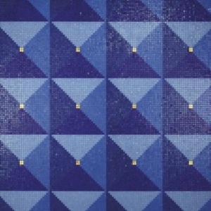 Mosaico Ferrara Oro Giallo (design Alessandro Mendini) di Bisazza, 2016.