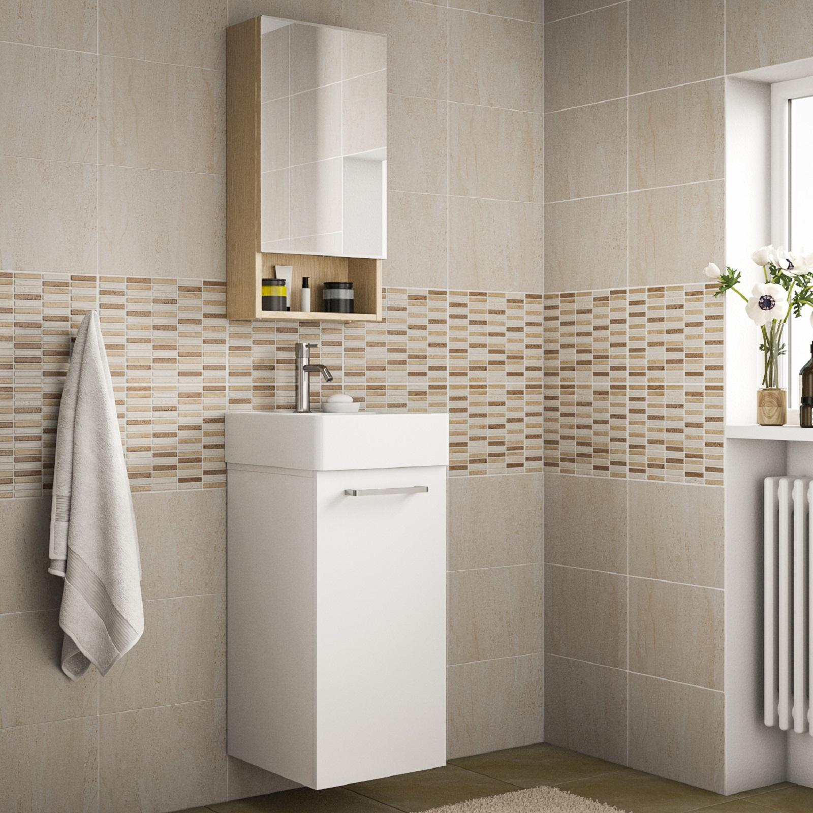 Mobili bagno piccoli con lavabo bianchi in legno o for Leroy merlin lavabo bagno