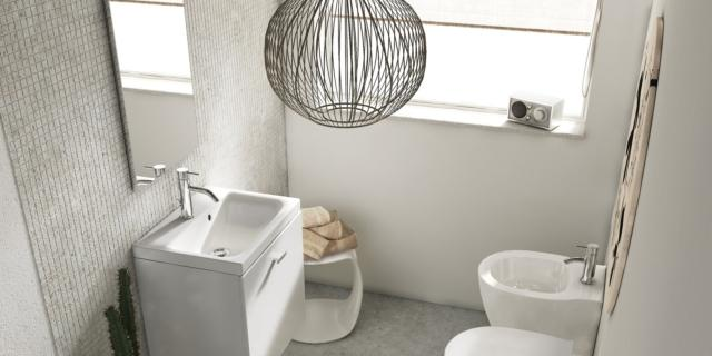 mobile lavabo sospeso connect space di ideal standard
